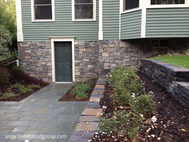 Walk-out Basement Patio And Retaining Walls