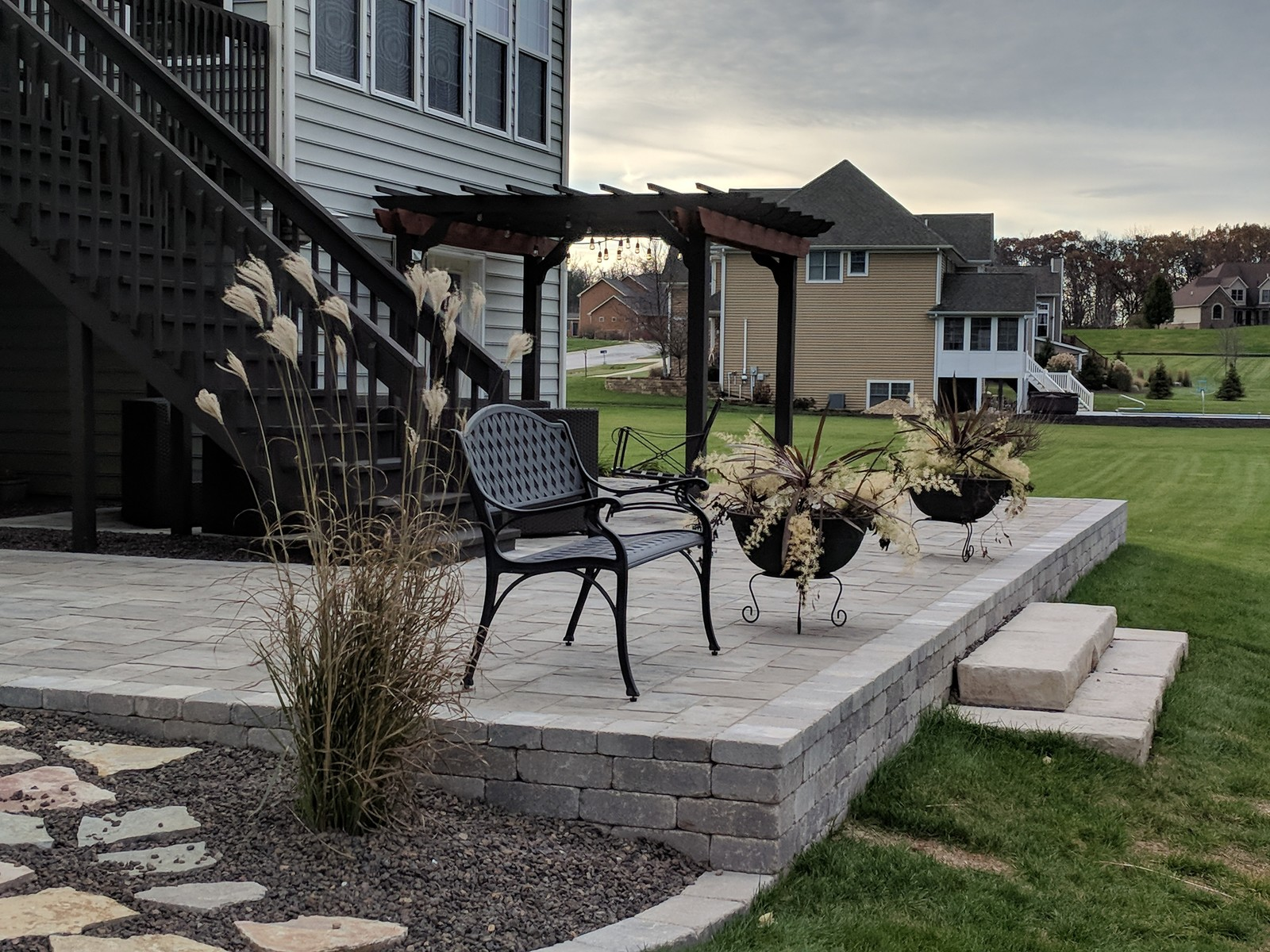 Walkout Patio and Landscape