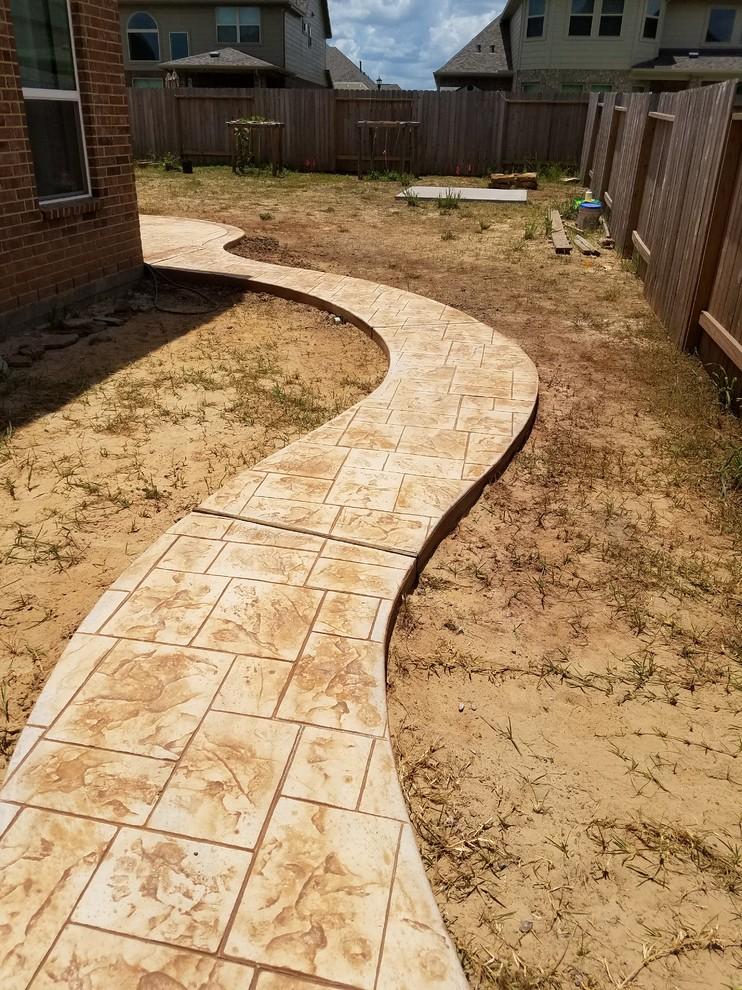 Walkways L L Concrete Contractors Patio Houston By L L
