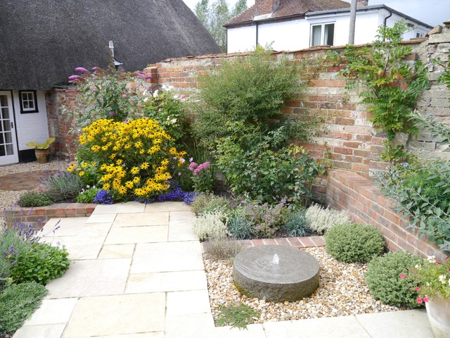 walled cottage garden
