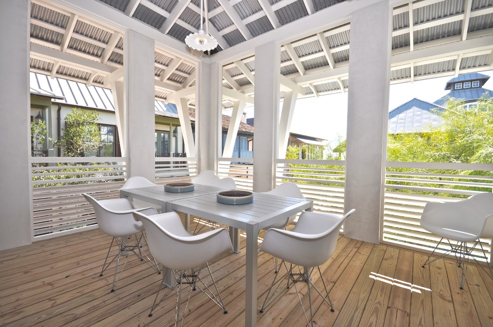 Trendy patio photo in Jacksonville with decking