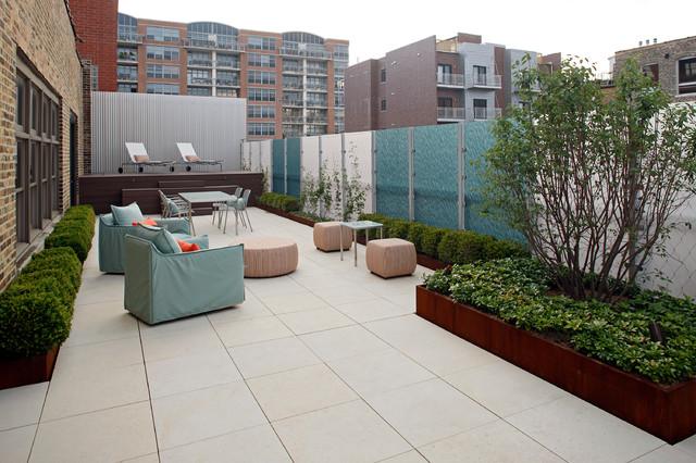 Warehouse roof terrace contemporary patio chicago - Decoracion para terrazas ...