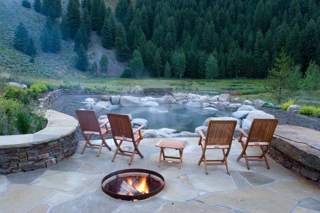 Warfield Hot Springs Residence Contemporary Patio