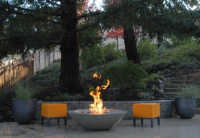 Warm contemporary contemporary-patio