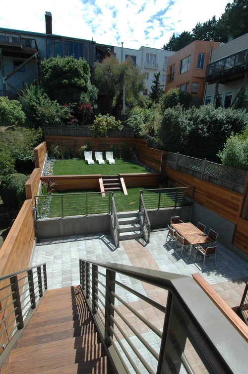 Tiered Backyard Pictures : Contemporary Patio by San Francisco Architects & Designers Mark Brand