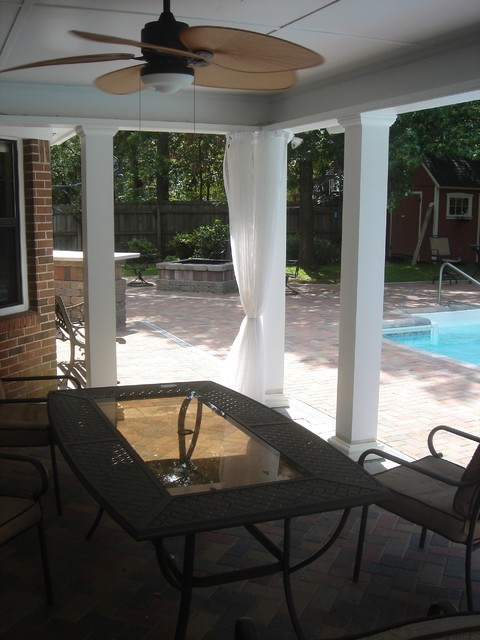 Warner Robins Ga Pool Paver Patio Open Porch Outdoor Kitchen And Fire Pit