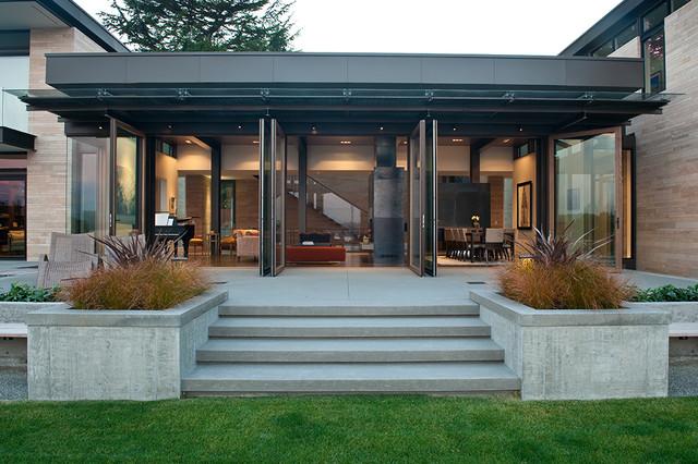 Washington Park Hillside Residence Contemporary Patio