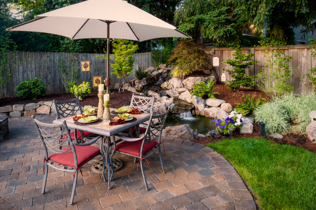Washington property contemporary patio portland by for Paradise restored landscaping exterior design