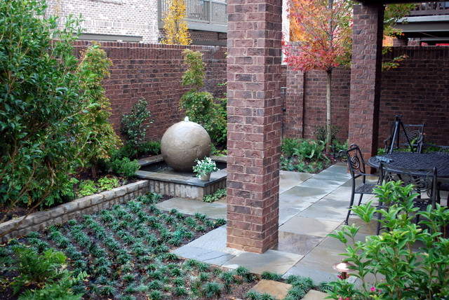 Water Feature Traditional Patio