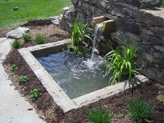 Water Features Modern Patio