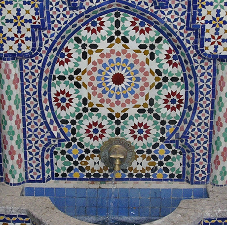 Water Fountain Handmade Moroccan Tile