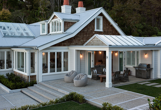 Waterfront home traditional patio auckland by for Anderson architects