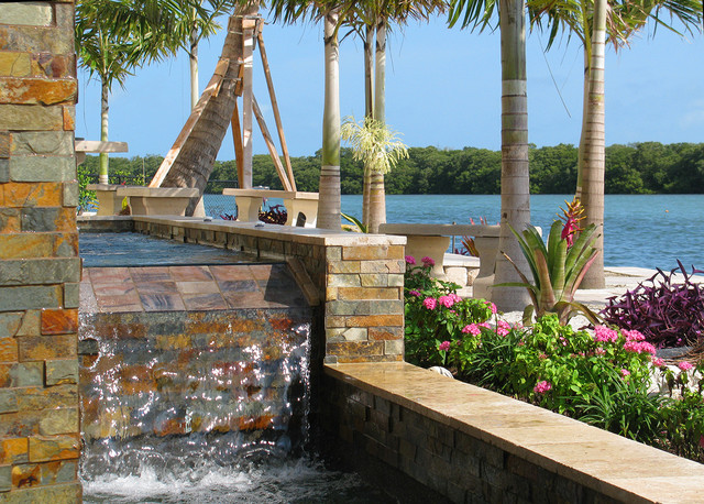 Waterfront Landscaping - Tropical - Patio - tampa - by ... on Waterfront Backyard Ideas id=41019