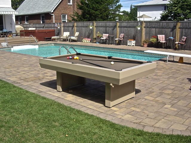 Waterproof penthouse outdoor pool table contemporary - Pool table images ...