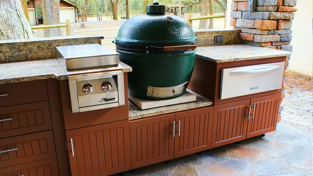 Weatherproof polymer cabinetry in southwest florida for Outdoor kitchen cabinets