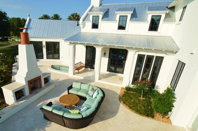 West Indies Estate modern-patio