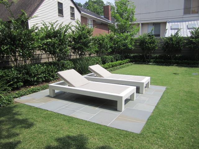 West University, Houston Landscapes - Contemporary - Patio - Houston - by Prewett, Read & Associates