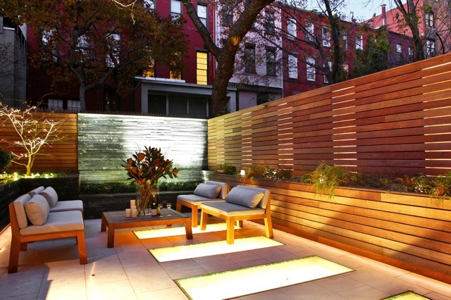 West village townhouse contemporary patio new york for Townhouse deck privacy ideas