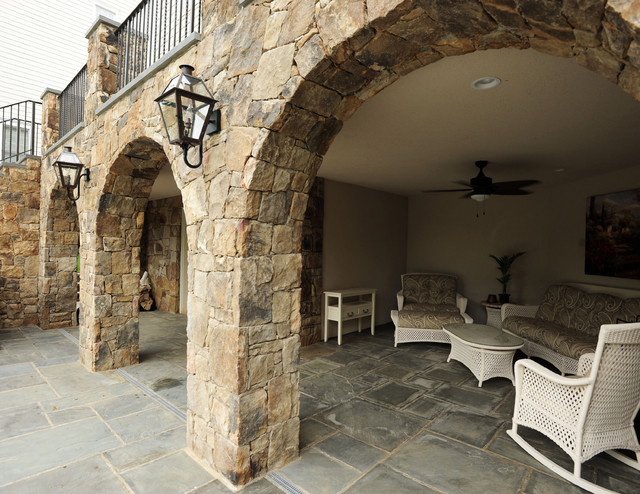 Western Maryland Stone Arches And Facade Rustic Patio