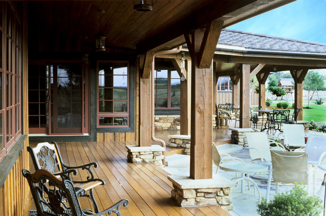 Western Ranch traditional-patio