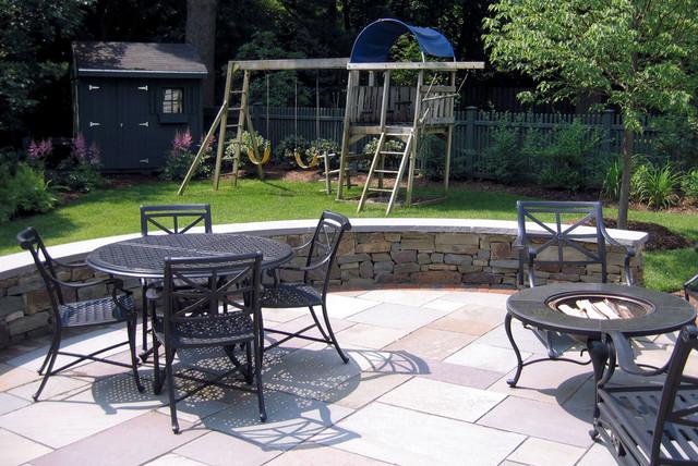 Westfield Family Backyard traditional-patio
