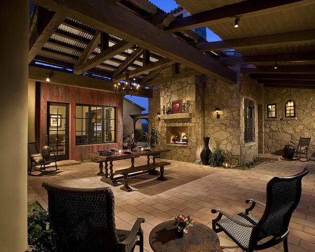 Outdoor Dining Room Mediterranean Patio Phoenix By