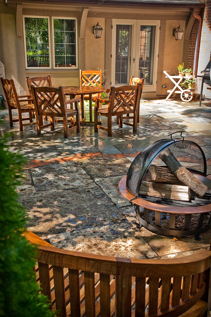 Old World Made New traditional-patio