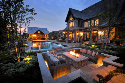 Fire Pit Design Ideas Around Swimming Pool
