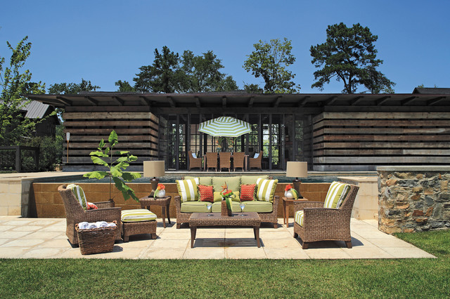 Wicker patio furniture with sofa lounge chairs end and for Outdoor furniture birmingham al