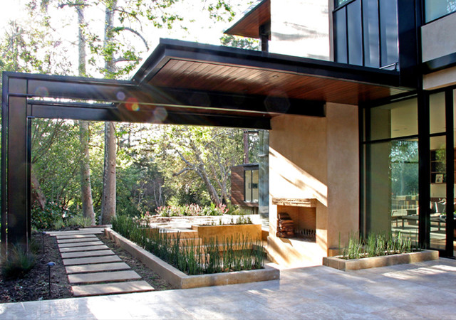 William Hefner Architecture Modern Patio Los Angeles