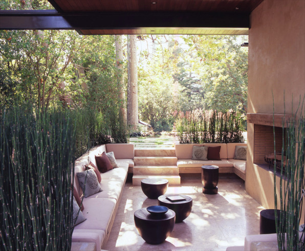 William hefner architecture modern patio los angeles for Patios minimalistas
