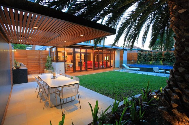 contemporary patio by Secret Gardens