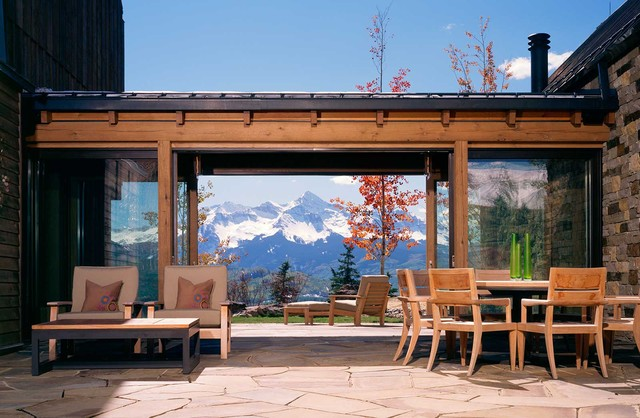 Wilson Mountain Residence - Rustic - Patio - Denver - by Poss Architecture + Planning and ...