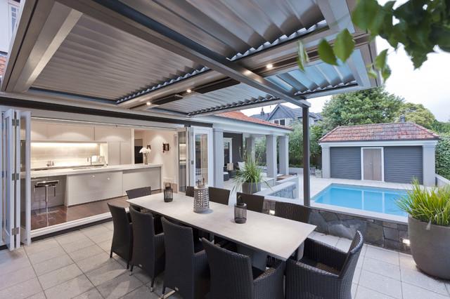 Wine Cellar Kitchen modern-patio