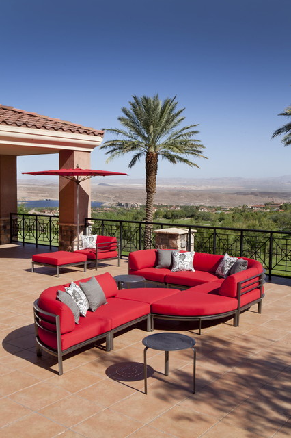 Winston Southern Cay Modular Sectional Set contemporary-patio