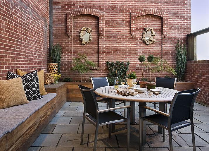 Wisconsin Ave Handsome Pied A Terre Eclectic Patio Dc Metro By Huntley Co Interior Design