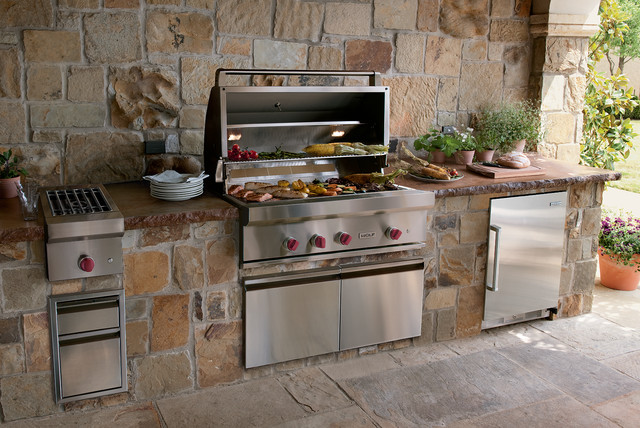 "Wolf 42"" Outdoor Gas Grill, Stainless Steel Natural Gas 