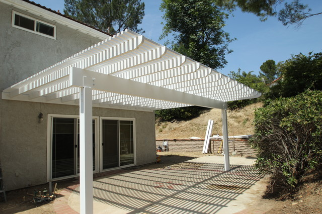 Save. Wood Lattice Patio Cover And Wood Balcony