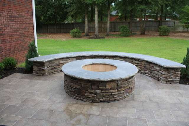 Woodburning firepit kit patio atlanta by my outdoor for Prefab fire pit