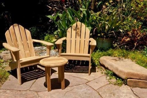 Wooden Duck Solid Teak Adirondack, Wooden Duck Furniture