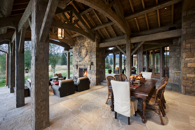 Wyoming Residence Rustic Patio Other By Locati