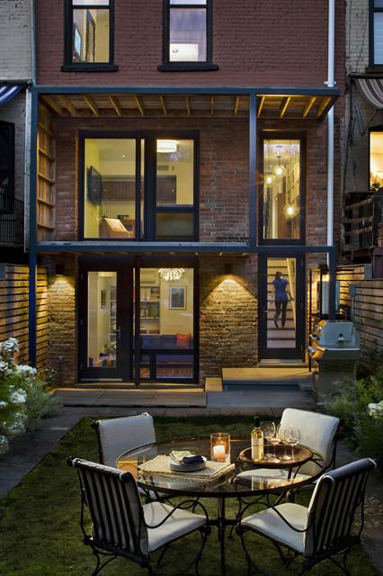 16 Row House Interior Design Ideas: Yard & Rear Facade