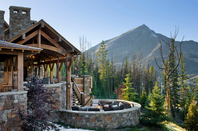 Yellowstone Club Summit Residence Rustic Patio Other