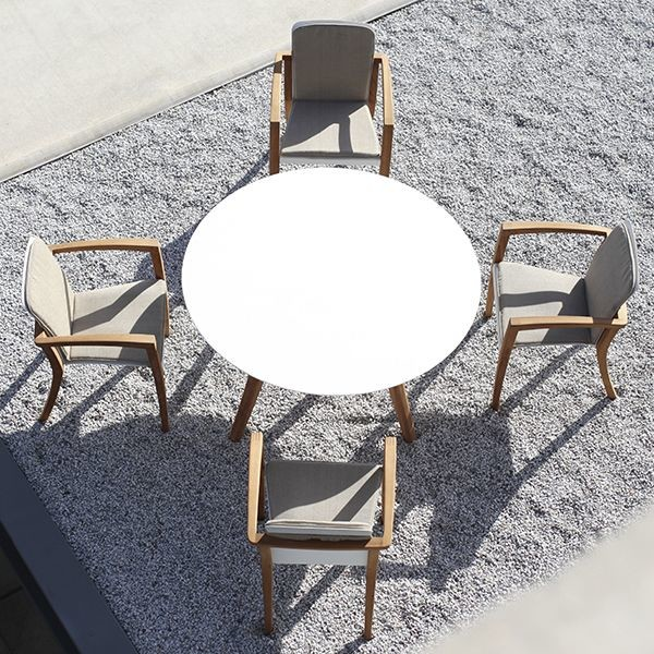 Zadiz Round Dining Table And Chairs Modern Patio Chicago By Home Infa