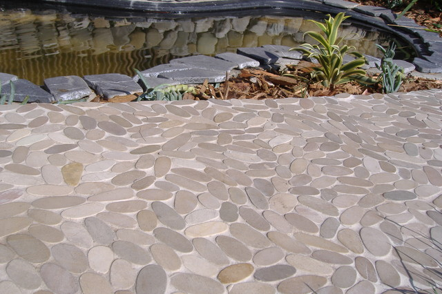 Zen Paradise Wave Style Stone Tiles Patio santa