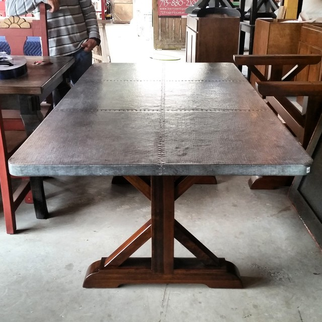 Zinc Farmhouse Table Country Patio