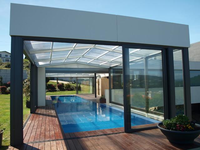 Cubierta para piscina fija en vivienda unifamiliar de for Piscinas en pontevedra