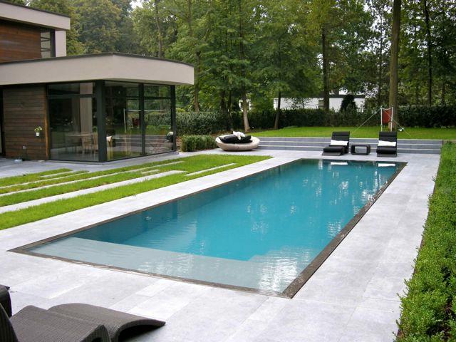 Jardines, terrazas y piscina contemporaneo-piscina