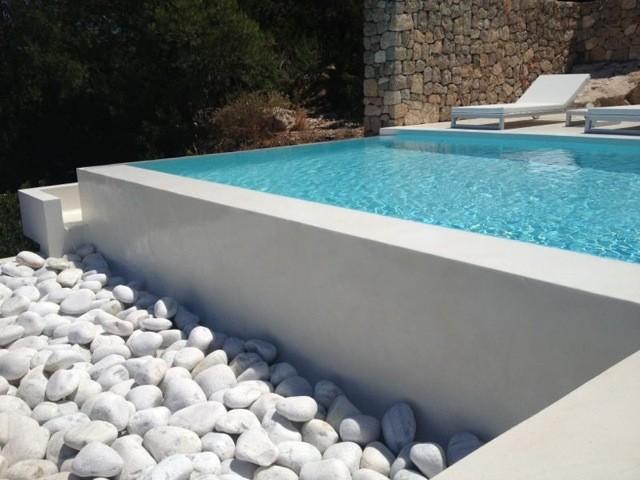 Piscina cemento pulido en ibiza for Cemento pulido exterior