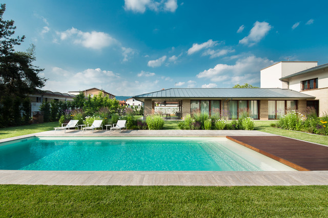 Edificio residenziale con piscina contemporaneo - Condominio con piscina milano ...